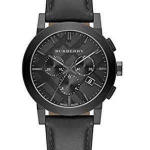 New Burberry Leather Chrono Men's Bu9364 Watch